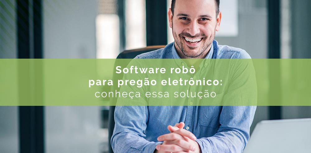 Software robô para pregão eletrônico